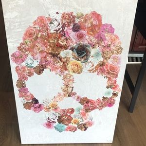 Other - Floral Skull Canvas